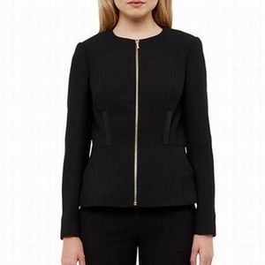 TED BAKER LONDON TAALII TEXTURED FITTED JACKET 1